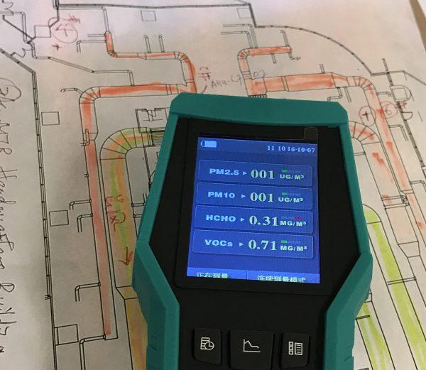 室內空氣質素標準每500平方米只需要一個檢查點